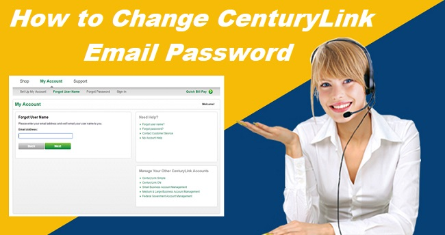 Change CenturyLink Email Password