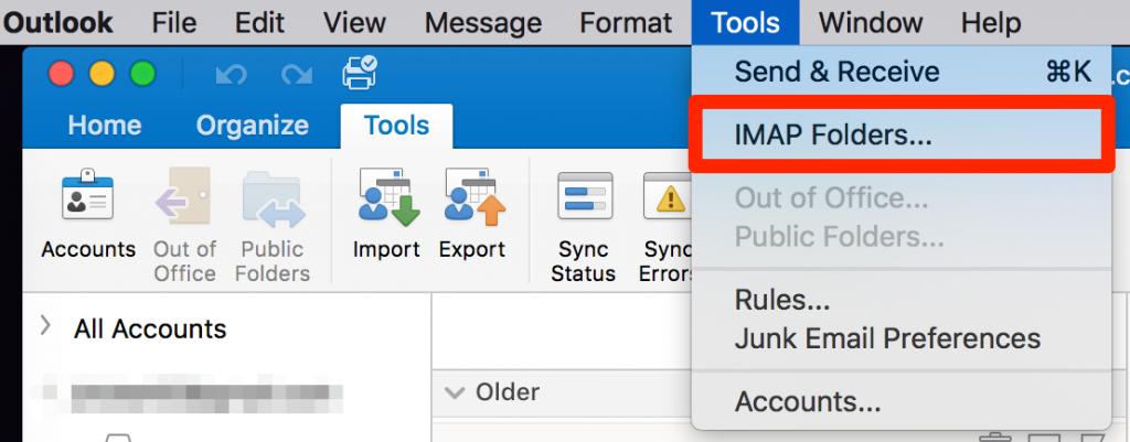 Set up IMAP Configuration