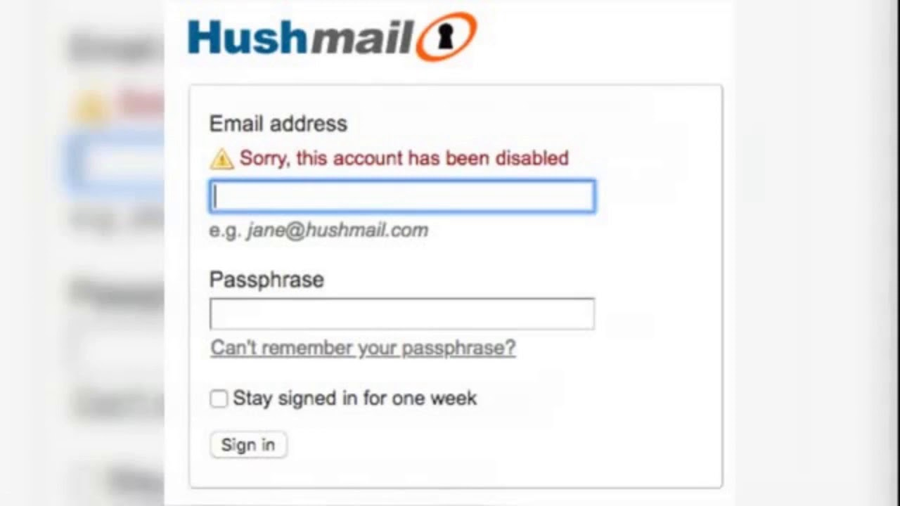Common Hushmail Login Problems