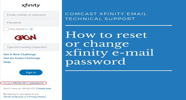 Forgot Xfinity Password