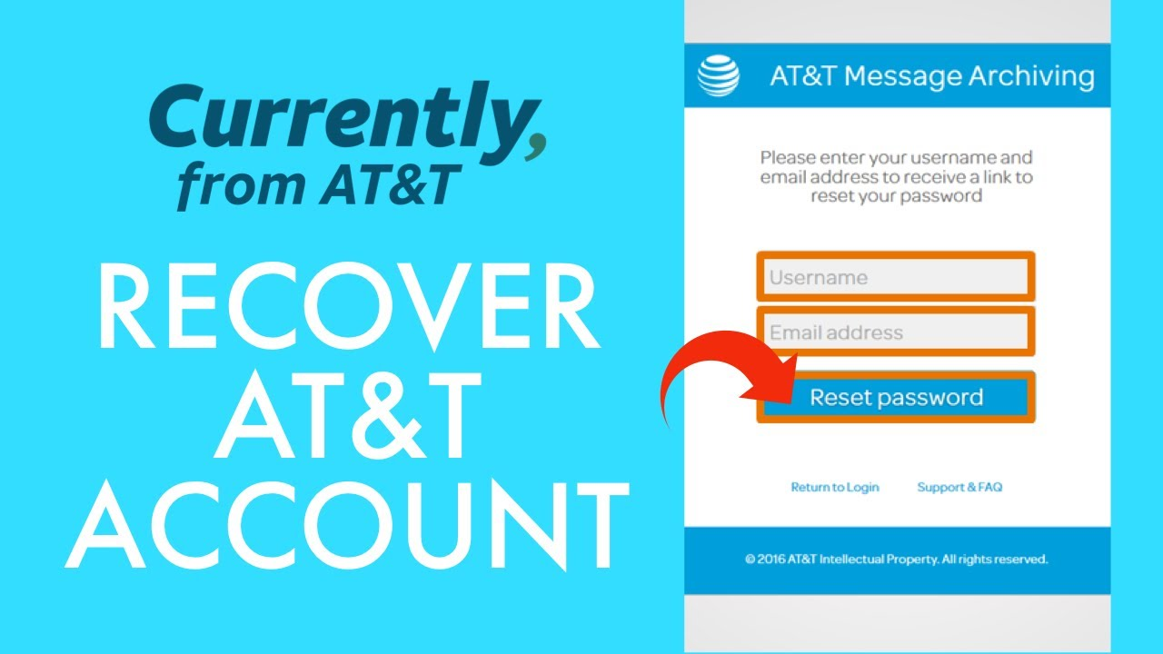 Recover AT&T Email Password