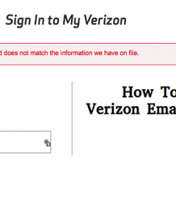 How to Recover Verizon Email Password?